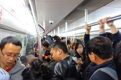 Coche del metro de la ciudad Imagen de archivo libre de regalías