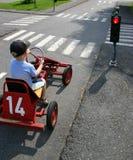 Coche del pedal en semáforos Imagen de archivo