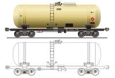 Coche del petrolero del petróleo/de la gasolina Fotos de archivo