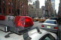 Coche del poli en Nueva York Imagen de archivo libre de regalías