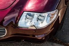 Coche del salón de Maserati Quattroporte fotos de archivo