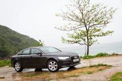 Coche 2013 del sedán de Audi A6 Fotos de archivo libres de regalías