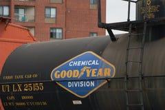 Coche del tanque, acero, UTLX ningún 25155, GDYR ningún 1, compañía de automóviles del tanque de la unión fotos de archivo