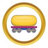 Coche del tanque para el icono de la gasolina ilustración del vector