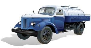 Coche del tanque retro del vector Imagen de archivo libre de regalías