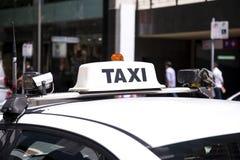 Coche del taxi Imagen de archivo libre de regalías