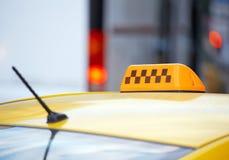 Coche del taxi Fotografía de archivo libre de regalías