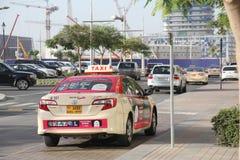 Coche del taxi de Dubai Imagen de archivo libre de regalías