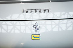 Coche del vintage de Dino del ferarri del logotipo Foto de archivo libre de regalías