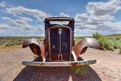 Coche del vintage de Route 66 Foto de archivo libre de regalías