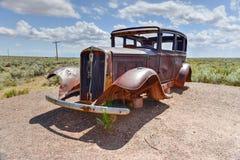 Coche del vintage de Route 66 Imágenes de archivo libres de regalías