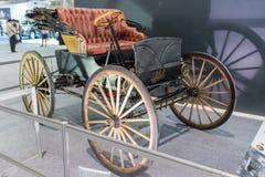 Coche del vintage en la expo internacional 2015 del motor de Tailandia Imagen de archivo libre de regalías