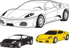 Coche deportivo stock de ilustración