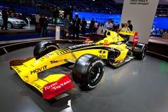 Coche deportivo amarillo Fomula 1 Renault Imagen de archivo libre de regalías