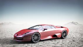 Coche deportivo brandless rojo ilustración del vector