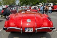 Coche deportivo Chevrolet Corvette (C1), vista posterior Foto de archivo libre de regalías