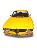 Coche deportivo clásico amarillo Foto de archivo libre de regalías