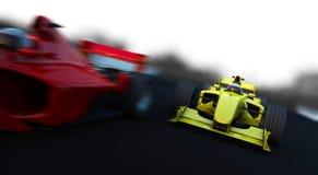 Coche deportivo de 2 fórmulas 1 stock de ilustración