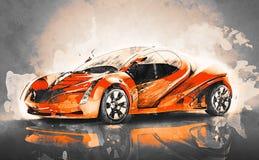 Coche deportivo del concepto ilustración del vector