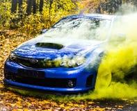 Coche deportivo del coche de carreras del STI de Subaru Impreza WRX Fotos de archivo