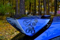 Coche deportivo del coche de carreras del STI de Subaru Impreza WRX Imagen de archivo libre de regalías