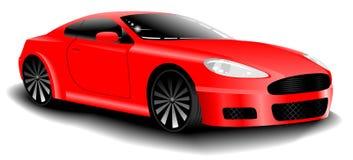 Coche deportivo del rojo del vector ilustración del vector