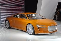 Coche deportivo eléctrico puro del concepto de AUDI E-Tron Fotografía de archivo