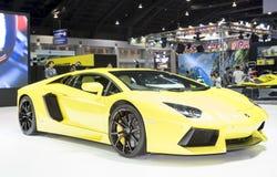 Coche deportivo estupendo amarillo de Lamborghini fotos de archivo libres de regalías