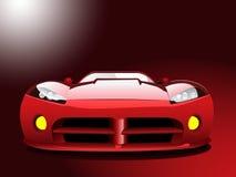 Coche deportivo rojo Imagen de archivo libre de regalías