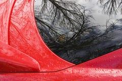 Coche deportivo rojo foto de archivo libre de regalías