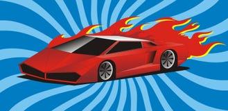 Coche deportivo rojo Imágenes de archivo libres de regalías
