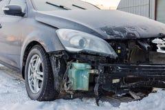 Coche después de un accidente Foto de archivo libre de regalías
