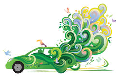 Coche ecológico stock de ilustración