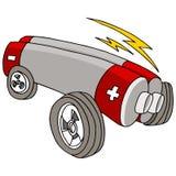 Coche eléctrico stock de ilustración