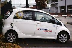 Coche eléctrico de ESWE Transport Company Imagen de archivo libre de regalías