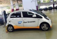 Coche eléctrico de SAP Foto de archivo libre de regalías