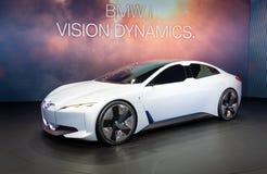 Coche eléctrico del concepto de la dinámica de BMW i Vision imagen de archivo