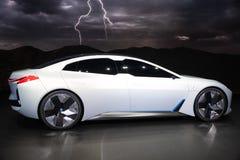 Coche eléctrico del concepto de la dinámica de BMW i Vision fotos de archivo