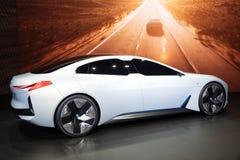 Coche eléctrico del concepto de la dinámica de BMW i Vision imagen de archivo libre de regalías