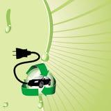 Coche eléctrico híbrido Fotos de archivo libres de regalías