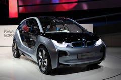 Coche eléctrico i3 del concepto de BMW foto de archivo libre de regalías