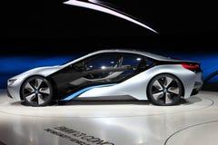 Coche eléctrico i8 del concepto de BMW Imágenes de archivo libres de regalías