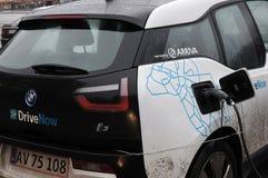 Coche eléctrico de BMW Fotos de archivo libres de regalías