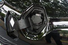 Coche eléctrico Renault Zoe de Supermini Foto de archivo libre de regalías