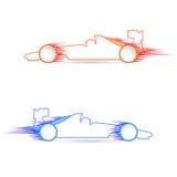 Coche en deportes ilustración del vector