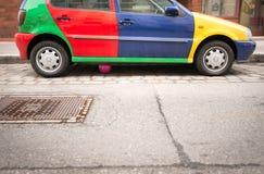 Coche en la calle de Viena, Austria, Europa Imagen de archivo libre de regalías