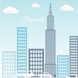 Coche en la ciudad estilo de papel del arte ilustración del vector