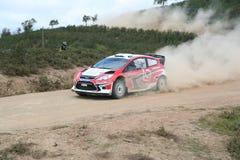 Coche en la reunión Portugal de WRC Imagen de archivo