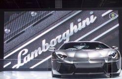 Coche estupendo negro de Lamborghini imágenes de archivo libres de regalías