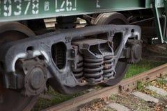 Coche ferroviario de la suspensión Foto de archivo libre de regalías